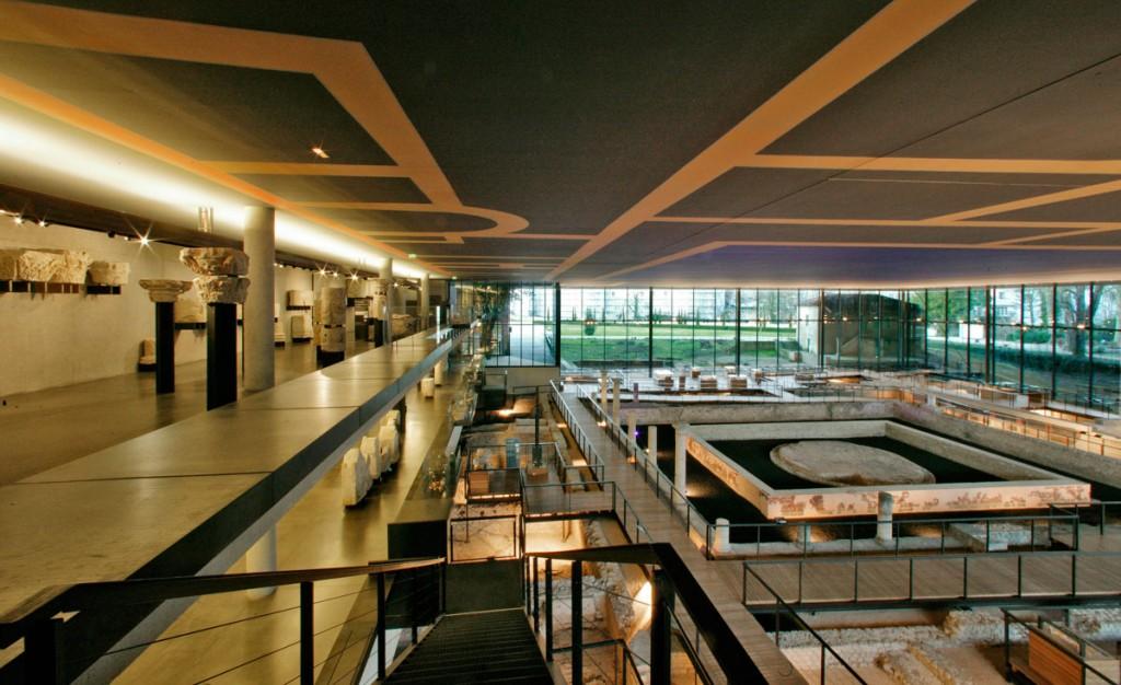 le musée Vesunna, vue de la mézanine