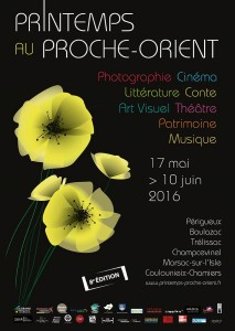 Affiche printemps Proche Orient 2016