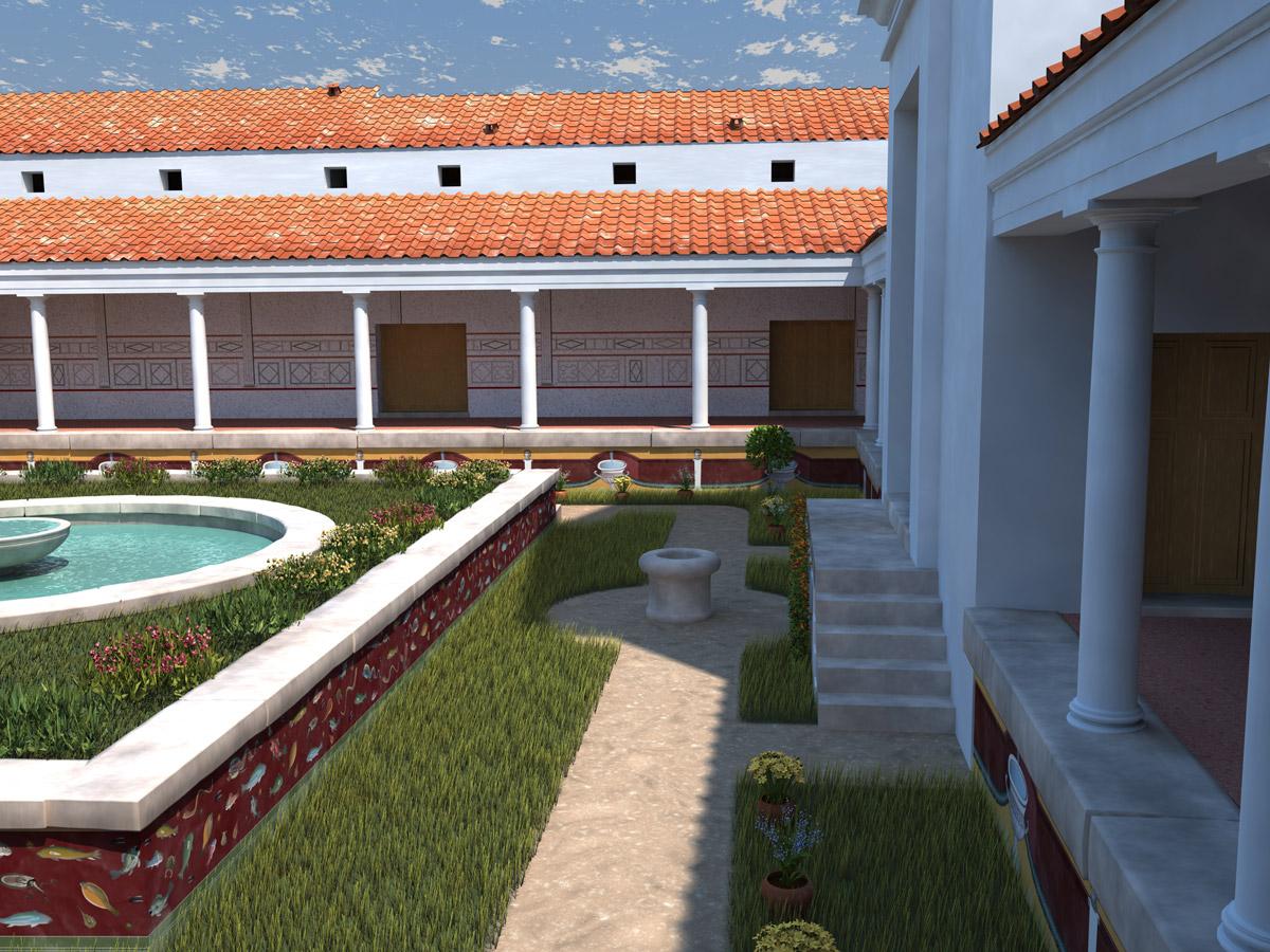 Un site arch ologique vesunna for Decoration maison romaine